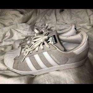 Grey Adidas Superstars